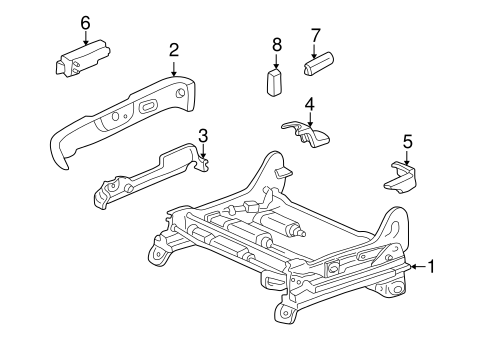 TOYOTA 71812-AA040-E0 Reclining Adjuster Cover