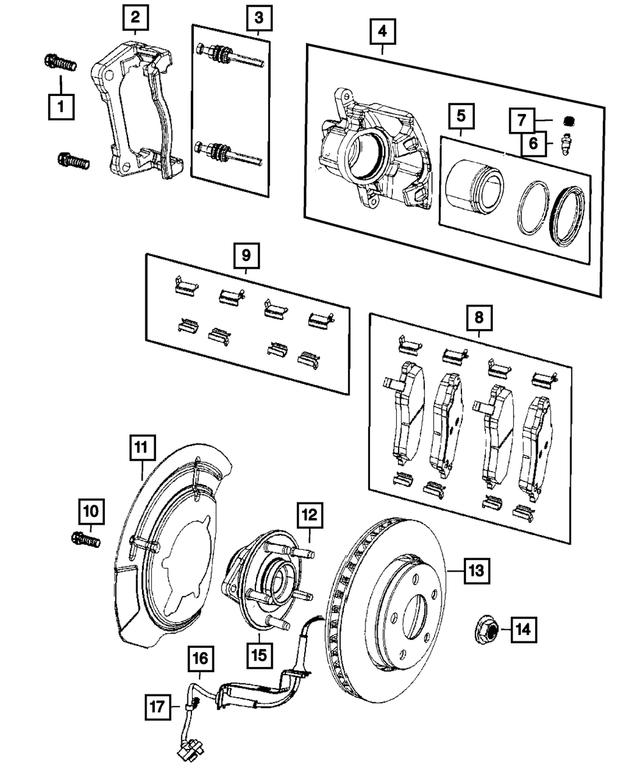 Disc Brake Rotor Front Mopar 52060137AB