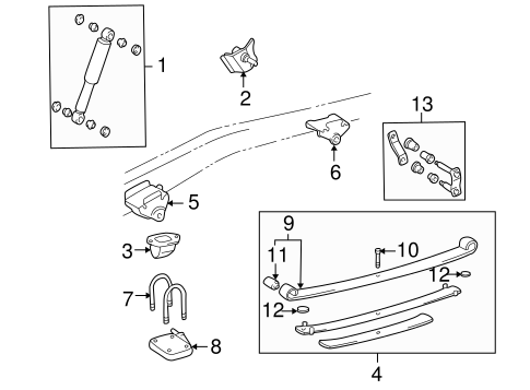 Genuine Oem Rear Suspension Parts For 1998 Toyota Tacoma Sr5