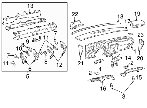 instrument panel parts for 2005 chevrolet venture 2005 chevy venture dash wiring wiring diagram for 2005 chevy venture