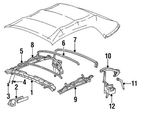 Frame Components For 1996 Ford Mustang