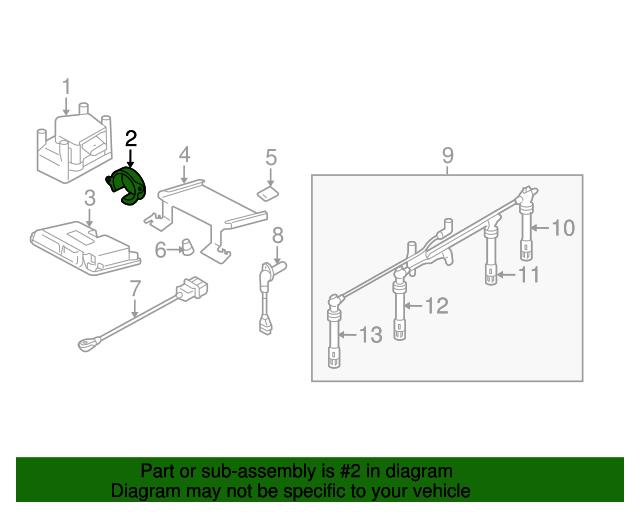 Camshaft Position Sensor Volkswagen 07k 907 601 A