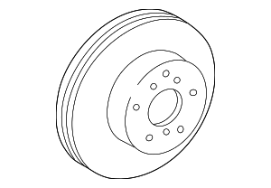 Disc Brake Rotor - Lexus (43512-33040)