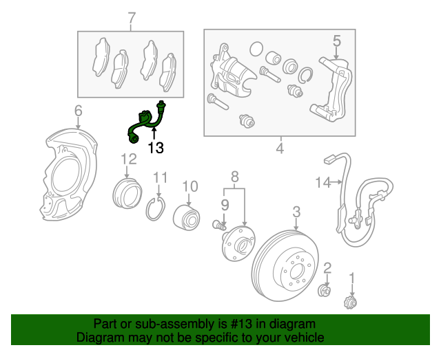 a3617fc7361dee9e0cf607ef4dd6459b 1997 2001 toyota camry brake hose 90947 02875 toyotaoftampabayparts
