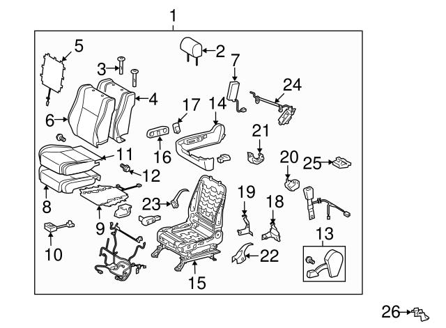 Toyota 84920-0E020-B0 Seat Switch Assembly