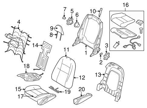 Front Seat Components For 2009 Volvo S40