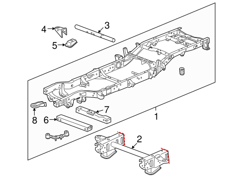 frame components for 2011 chevrolet silverado 1500. Black Bedroom Furniture Sets. Home Design Ideas