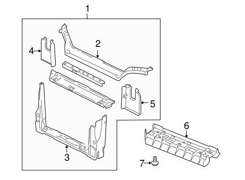 radiator support for 2006 pontiac montana