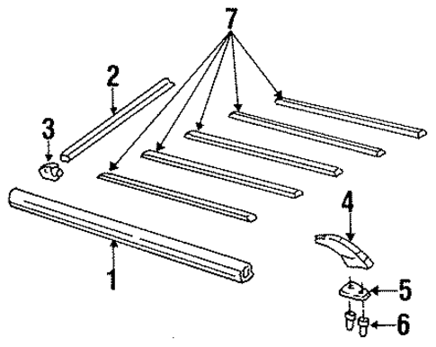 oem 1986 oldsmobile cutlass ciera luggage carrier parts