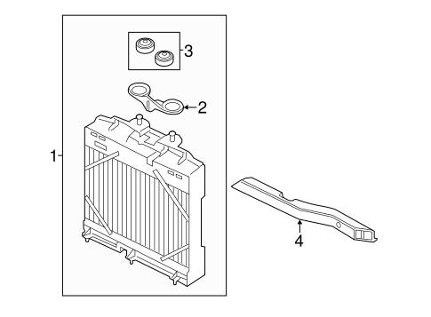 BMW 525i 530i 528i 550i 650i 745i 750i Radiator Mounting Plate Thermostat Kit