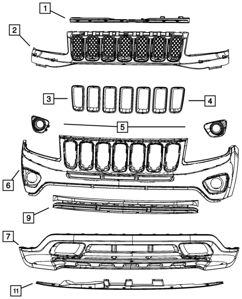 front bumper and fascia for 2012 jeep patriot