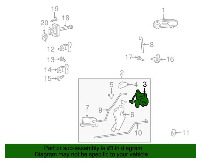 Ford Explorer Door Latch Diagram