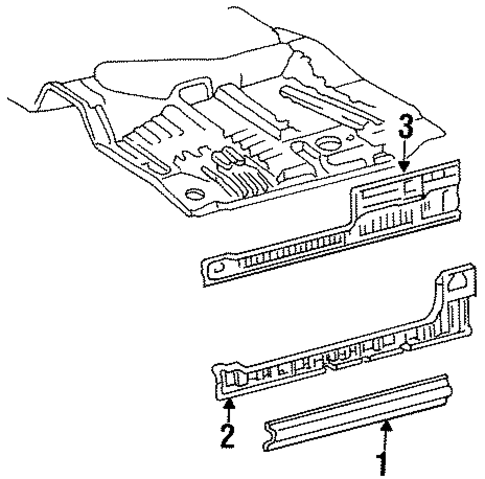 2000 Camry Parts Diagram besides Base in addition Toyota Inner Rocker 5741034020 further 98 Ta a Front Suspension Diagram likewise  on 1995 toyota t100 parts camelback genuine oem