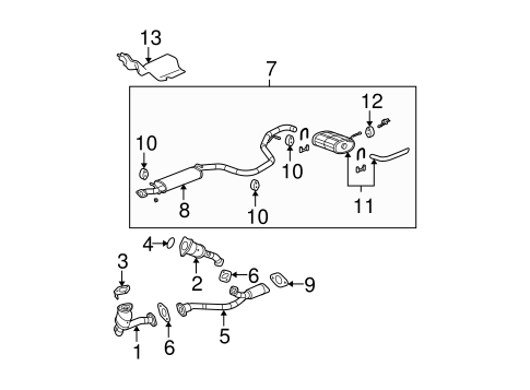 2005 malibu engine diagram 2003 chevy malibu engine diagram oem 2005 chevrolet malibu exhaust components parts | gm ...