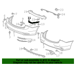 Spacer, R Rear Bumper Side - Acura (71593-TZ3-A00)