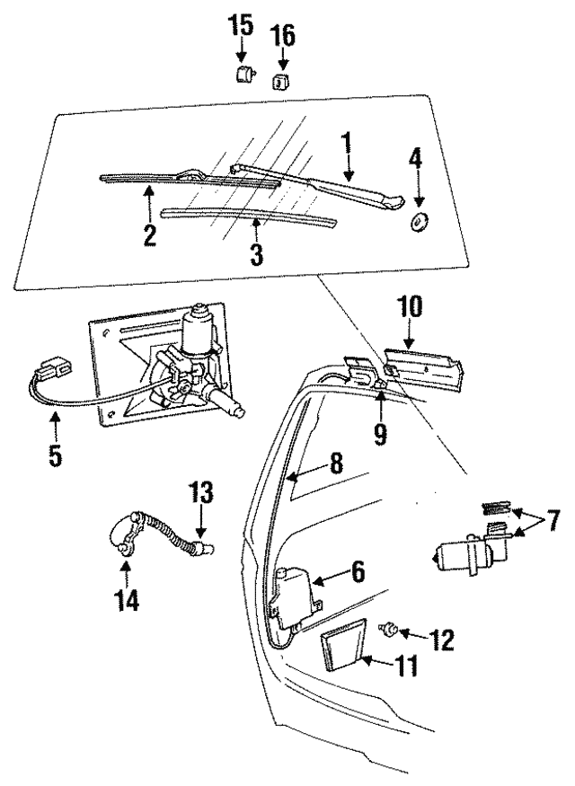 1984 1996 Mopar Blade Assembly Wb000016am