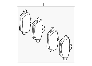 Brake Pads - Mercedes-Benz (000-420-45-02)
