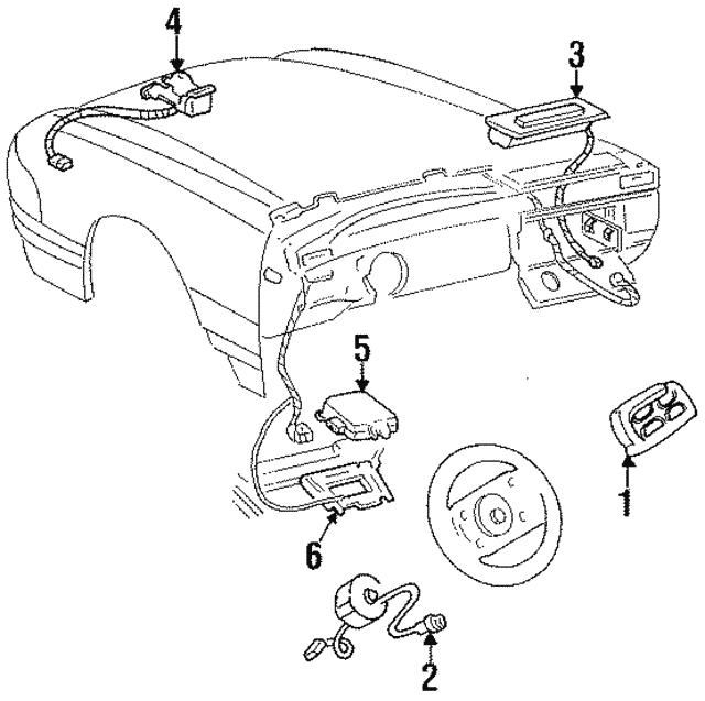 1998 2002 Cadillac Inflator Module 16825075