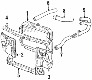 For Toyota Genuine Radiator Coolant Hose Left G922J48020
