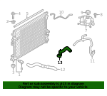 Radiator Coolant Hose - Ford (LX6Z-8286-C)