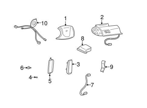 Air Bag Components For 2002 Pontiac Bonneville