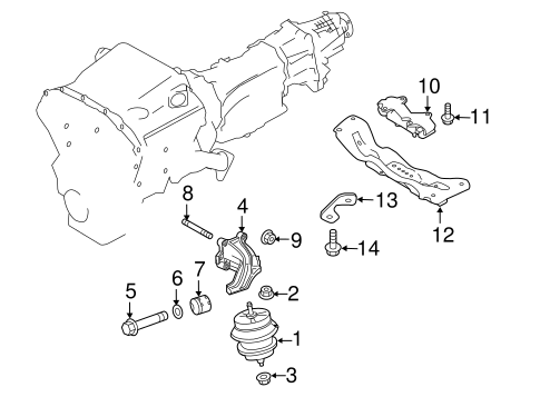 Engine Trans Mounting For 2017 Infiniti Q60