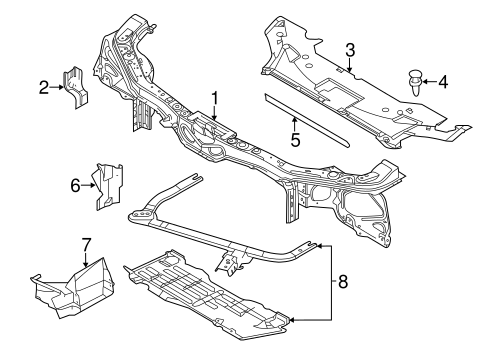 Body/Radiator Support for 2014 Ford Mustang #2