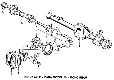Front Suspension/Carrier & Front Axles for 1997 Ford F-350 #1