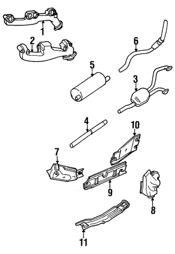 exhaust components for 1996 dodge ram 1500