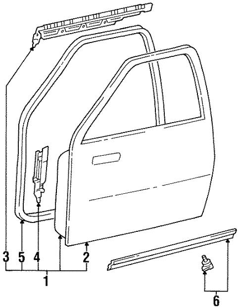 Door Ponents For 1996 Toyota T100 Mike Erdman. Door Ponents For 1996 Toyota T100 0. Toyota. Belt Diagram 1996 Toyota T100 At Scoala.co