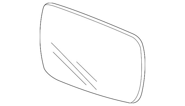 Genuine Acura 76253-STX-A02 Mirror Sub-Assembly