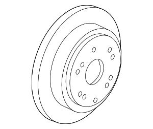 Disk, Rear Brake Drum In - Honda (42510-SHJ-A00)