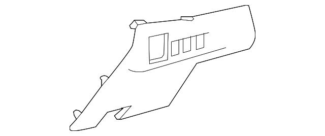 toyota fuse box cover  55545