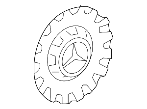 Center Cap - Mercedes-Benz (222-400-09-00-7X15)