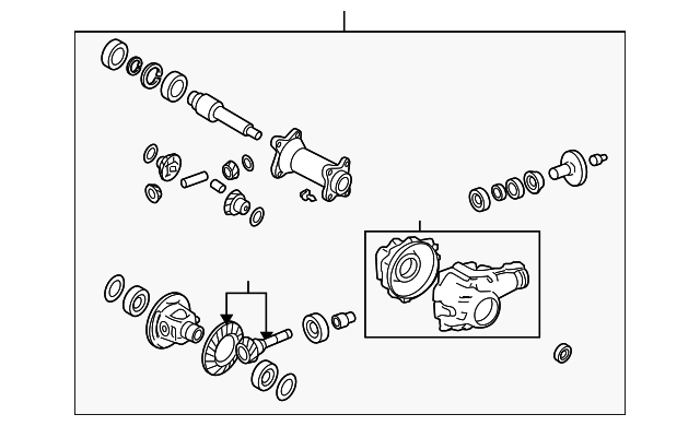 Toyota 90366-53001 Axle Differential Bearing