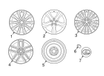 Wheel, Alloy - Lexus (4261A-53311)
