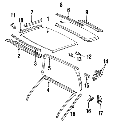 Body/Exterior Trim - Roof for 1986 Toyota Supra #2