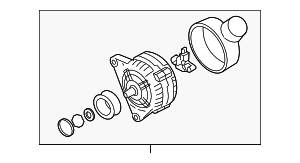 Alternator - Volkswagen (038-903-024-GX)