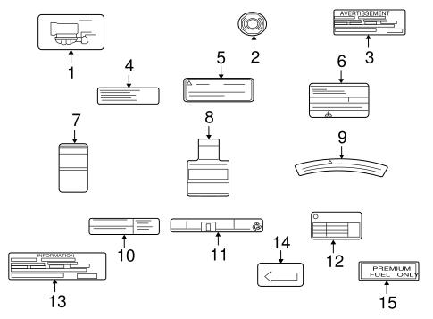 Labels For 2010 Mitsubishi Lancer Evolution Mr Auto Parts