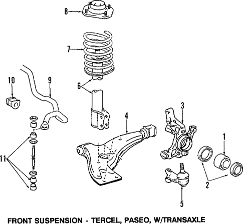 Front Suspension/Suspension Components for 1990 Toyota Tercel #1