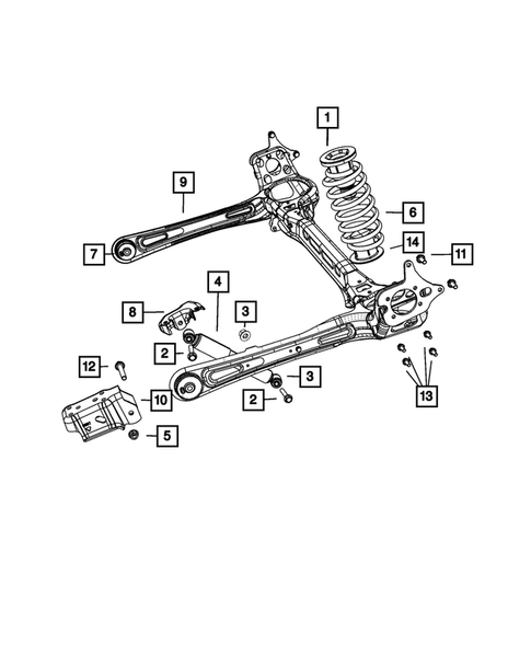 Rear Suspension and Cradle for 2013 Chrysler Town & Country #0