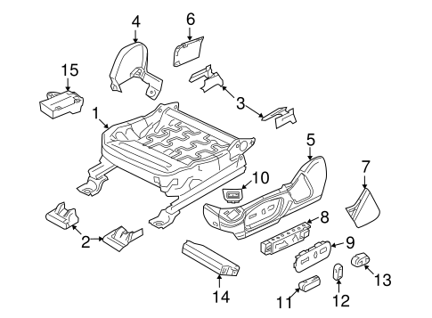 Body/Tracks & Components for 2013 Ford Taurus #2