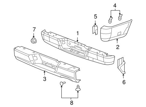 bumper components rear for 2005 dodge ram 1500 steve. Black Bedroom Furniture Sets. Home Design Ideas