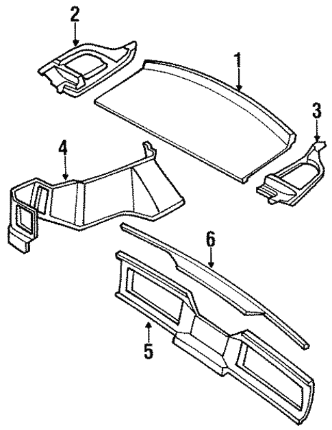 Interior Trim - Rear Body for 1991 Nissan 240SX | Nissan