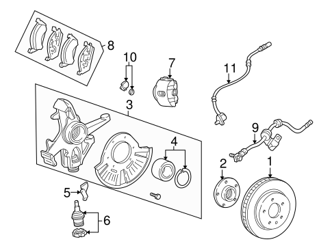 Brake Components for 2003 Mercedes-Benz ML 320 #0