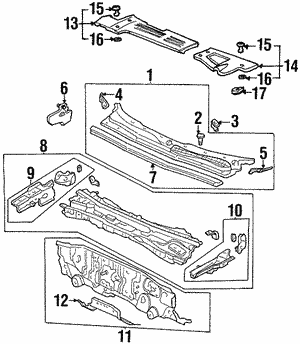 Cover, R Strut Bar