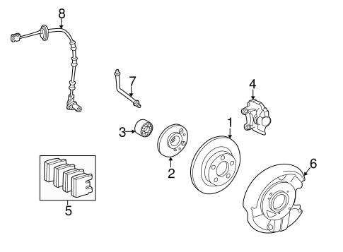 Brake Components for 1998 Mercedes-Benz E 320 #1