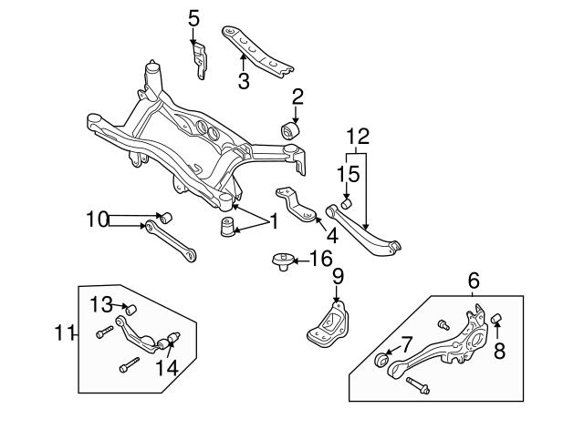 For 2000-2004 Subaru Outback Control Arm Bushing API 74612CY