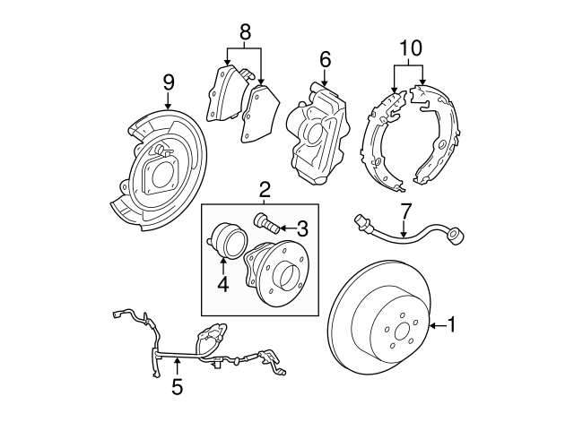 2000 2010 Toyota Park Brake Shoes 46540 20080: Toyota Tazz Wiring Diagram Manual At Ultimateadsites.com