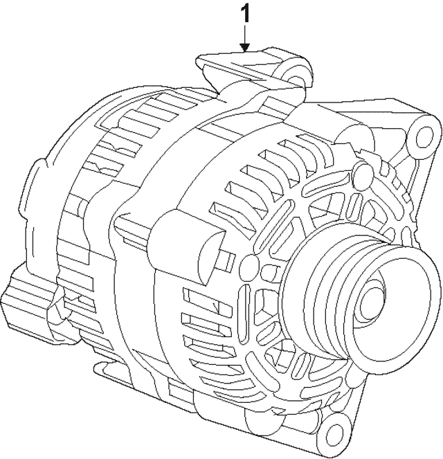 2016 2019 Chevrolet Alternator 13515942